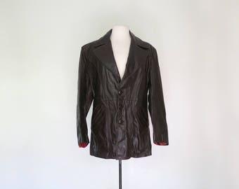 DARK CHOCOLATE // 1970s leather jacket