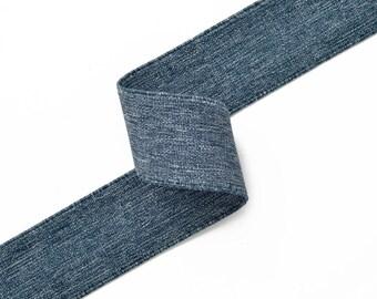 "1-1/2"" Elastic Stretch Ribbon Trim for Stretch Elastic Band, headband, hand band and waist belt, 1-yard, TR-10996"
