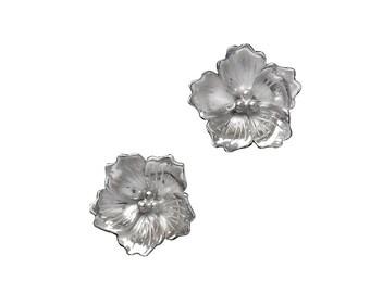 Cherry Blossom Earrings, Flower Earring,Bridesmaids Earrings, Kisses of Spring: sterling silver post earrings