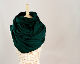 Large Infinity Scarf, Chunky Scarf, Green Scarf, Hooded Scarf, Oversized Scarf Winter Scarf Green Womens Outdoors Gift for Her Clothing Gift