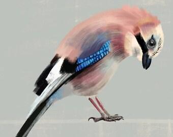 Mini-Print, Birds of the Garden, Jay,  12,6x17,9cm, 300 g paper