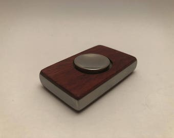 Custom Hand Spinner in Stainless Steel and Padauk