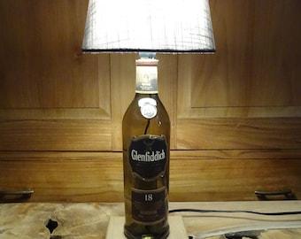 Bottle lamp Glenfiddich, desk lamp, decoration lamp, whisky lamp,