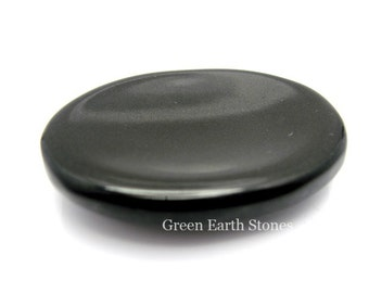 Black Agate Worry Stone, Stress Relief, Thumb Stone, Black, Pocket, Metaphysical, Rub Stone, Anxiety Relief, Meditation,