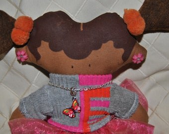 TANGY hand made one of a kind cloth doll