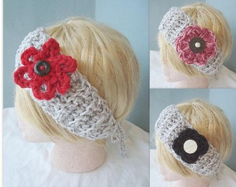 Instant Download PDF Crochet Pattern -  Headband - SPP-22  make it any size.