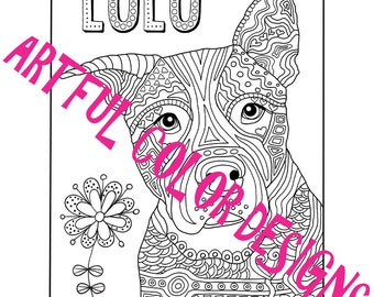 Dog Coloring Page Printable Download For Dog Lovers Of All Ages