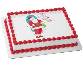 Sweet Christmas Santa Edible Cake Topper