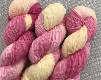 Dear Jessie inspired hand dyed yarn (75 super wash merino 25% nylon) 4 ply / fingering weight