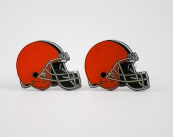 Cleveland Browns Cuff Links -- FREE SHIPPING with USPS First Class Domestic Mail