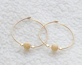 Gold Hoops, Skinny, Slim, Thin Hoop, Simple Everyday Wear/ Gold Fill Hoops Earring/ 925 silver hoop earring