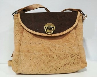 Cork Lady Handbag - Fine Cork Bag - Cork Purse - Eco-friendly Shoulder Bag