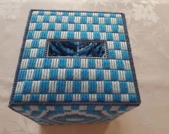 Box blue handkerchief