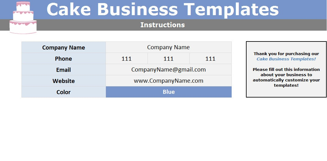 Cake Cupcake And Cookie Decorating Business Printable Order Form