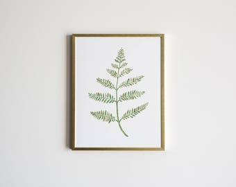 Watercolor Fern Botanical Illustration • Unique Greenery Painting • Whimsical Fern Plant Watercolor Art •Home Decor Print •Floral Art