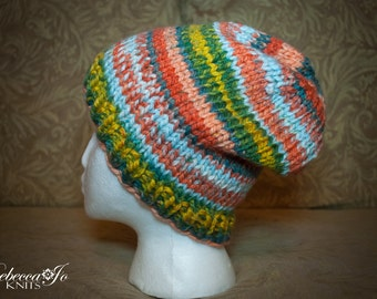 Colorful Knit Slouch Hat