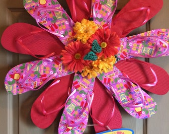 Flip Flop Wreath custom made
