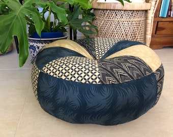 Unfilled 24 Inch 'Storm' Floor Cushion Cover, Made in Australia, Boho, Pouffe, Pouf, Floor Seating, Meditation Cushion, Gypsy, Eclectic,