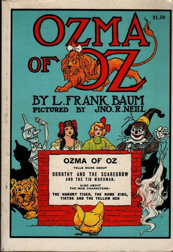 Ozma of Oz + L. Frank Baum + John R. Neill + Vintage Kids Book