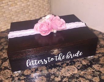 Letters to the Bride Wood Box