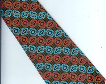 Vintage Retro  Wembley  Clip-On  Necktie  17 Inches Long and 3 1/2  Inches Wide Vintage Neck-Tie
