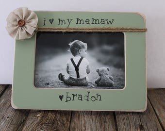 Gift for Memaw, Mother's Day, Grandma Personalized Picture Frame, Grandma, Nanny, Grammie, Mimi, Grammy, Easter Gift