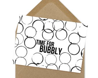 time for bubbly card | A6
