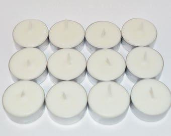 White Nectarine & Citronella Scented Soy Mosquito Repellent Tea Lights