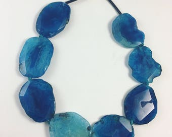 Blue Agate statement necklace