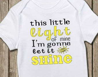 Christian Baby Shirt, Little Light Onesie, Let it Shine Shirt, Baby Bodysuit, Baby Shower Gift, New Baby Gift, Baby T Shirt