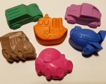 Transportation Crayon Bags Vehicles Cars Boats Trains Party Bags Goodie Bags Birthday