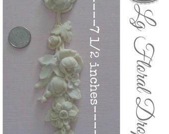Beautiful Lg floral drop applique! #13 (Set of 2 )