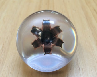 Barnes .45ACP 185 Grain TAC-XPD Solid Copper Hollow Point - Resin Sphere - Stand Included - Great Conversation Piece & Gift