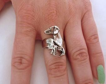Dachshund Ring Sterling