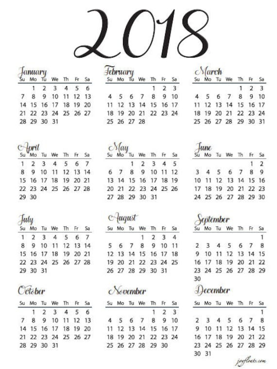 year at a glance calendars thevillas co