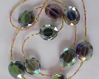 Purple and Green Chameleon Necklace