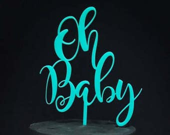 Oh Baby Cake Topper, Baby Shower, Baby Shower Cake Topper, Bamboo Cake Topper