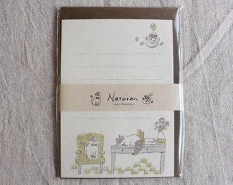 Cat Washi Letter Writing Set | Animal Letter Set | Letter Writing Set - 12 papers - 4 envelopes - 9408