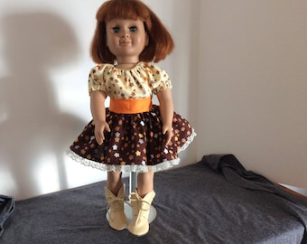 "Darling Boot Scootin' Party Dress for American Girl and other 18"" dolls"