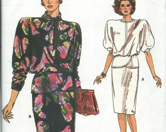 Vogue 9459 Easy Misses Top and Skirt Pattern, Size 12-14-16 UNCUT