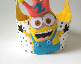 Crown Birthday-Anniversary crown-Congratulations-happybirthday-Children's party-handmade-minnions