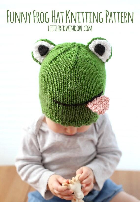 Babymütze mit Frosch STRICKMUSTER / Frosch Mütze Muster /