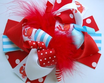 boutique LIL CRAB FUNKY fun hair bow clip