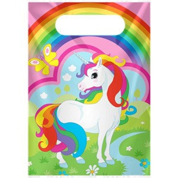 SALE Rainbow Unicorn Party Bags Loot Bags Unicorn Party