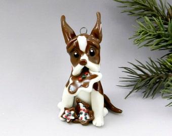 Great Dane Brown Porcelain Christmas Ornament Figurine Cookies