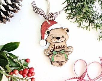 Personalised  Christmas decoration , Babys first Christmas decoration , Personalised  Christmas tree decoration , Polar bear decoration