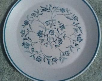 Lenox Blue Breeze Pattern Temper-Ware Dinner Plate
