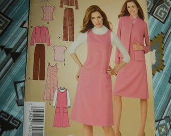 Simplicity 3630 Misses Pants Top Jacket and Dress or Jumper Sewing Pattern - UNCUT - Size 10 - 18
