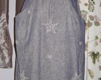 50s 60s Dress with Pearl & Rhinestone Decor Vintage