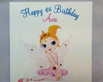 Personalised Handmade Childrens Birthday Card